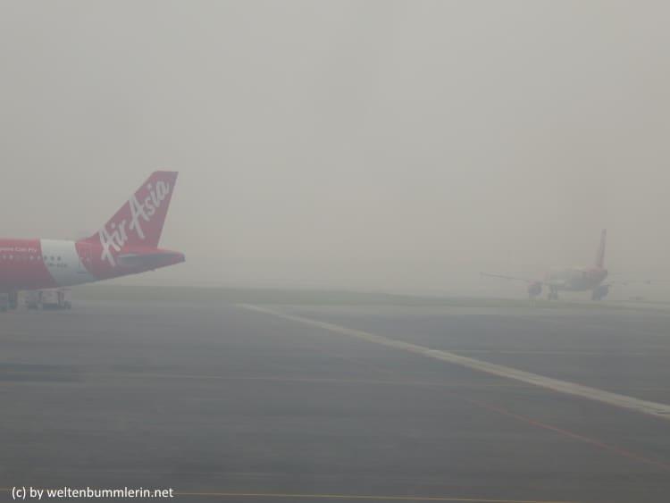 Smog wegen Abbrennen des Regenwald für Palmöl